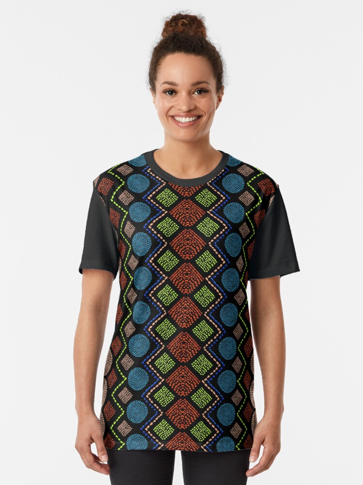 Alternate view of Ethnic African Motif 6 Graphic T-Shirt