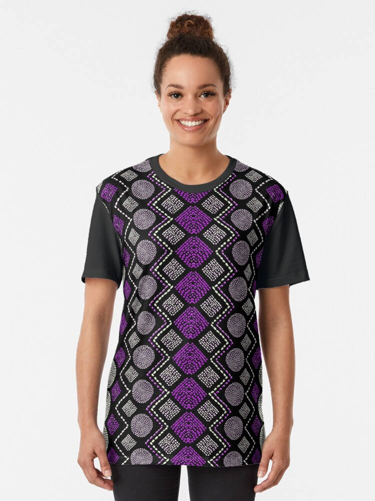 Alternate view of Ethnic African Motif 8 Graphic T-Shirt