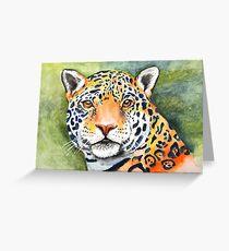 Watercolor Jaguar Greeting Card