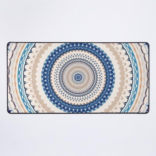 Neutral Blue Mandala Desk Mat