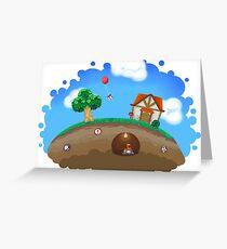 Animal Crossing Panorama  Greeting Card