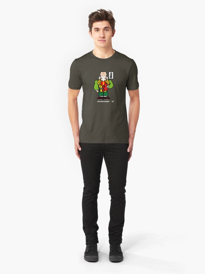 Alternate view of AFR Superheroes #01 - Drunken Master Slim Fit T-Shirt