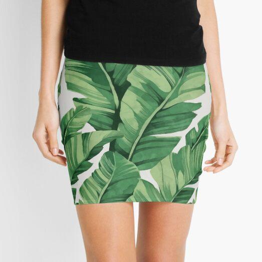 Tropical banana leaves Mini Skirt