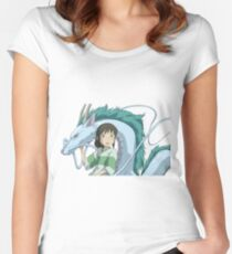 Spirited Away, Chihiro and Haku Women's Fitted Scoop T-Shirt