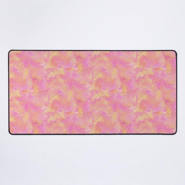 Funky pink and orange design  Desk Mat