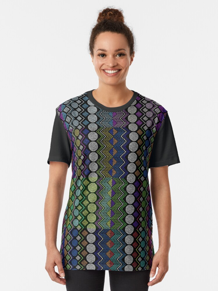 Alternate view of Ethnic African Motif 9  Graphic T-Shirt