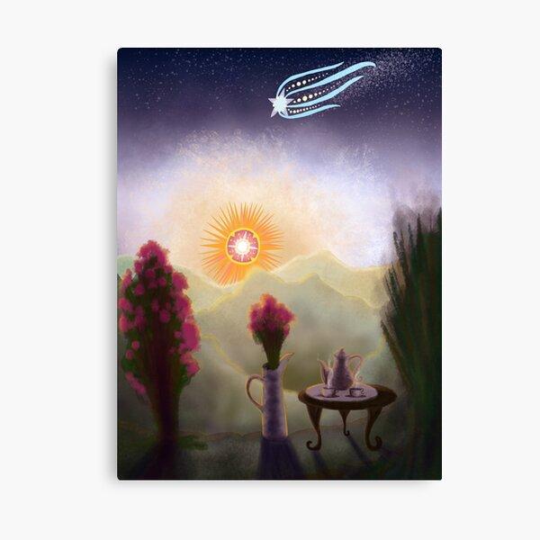 Teaset & Rosebush Canvas Print
