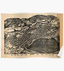 Vintage Pictorial Map of Aspen Colorado (1893) Poster