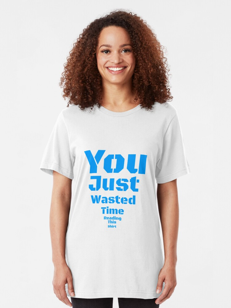 Alternate view of Time Waster Slim Fit T-Shirt