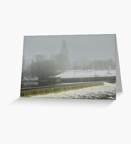 Slater Mill Dam in Winter Greeting Card