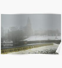 Slater Mill Dam in Winter Poster