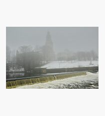 Slater Mill Dam in Winter Photographic Print