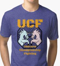Unicorn Championship Fighting Tri-blend T-Shirt
