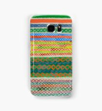 Colorful Stiches on Horizontal Colorful Stripes Samsung Galaxy Case/Skin