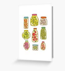Autumn pickled vegetables Greeting Card