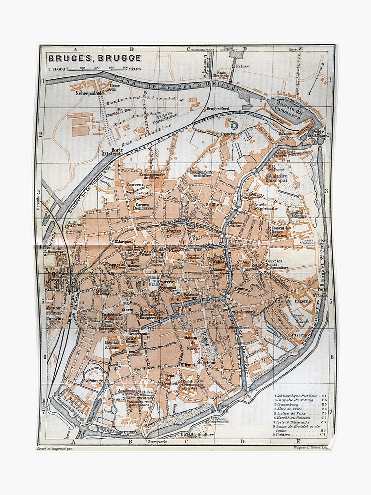Vintage Map of Bruges (1905) | Poster on map of bloemfontein south africa, map of canterbury england, city of bruges belgium, map of pusan south korea, map of london england, map of london to bruges, map of sheffield uk, walking tour of bruges belgium, map of bayfield wisconsin, travel bruges belgium, map of bruges attractions, map of manchester england, map of beacon new york, map of angeles city pampanga philippines, map of houston texas, map ghent belgium, map of mount vernon illinois, map of sudbury ontario canada, map of bruges france, map of tokyo japan,