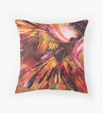 Redtailed riot Throw Pillow