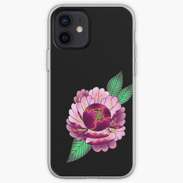 Single pink peony  iPhone Soft Case