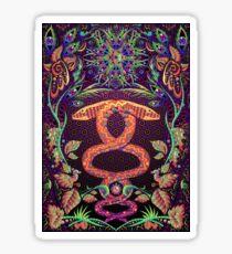 Psychedelic Ayahuasca snake spirit Sticker