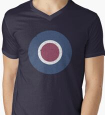 Vintage Look WW2 British Royal Air Force Roundel Men's V-Neck T-Shirt