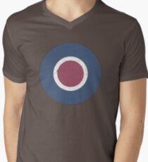 Vintage Look WW2 British Royal Air Force Roundel Men's V-Neck T-Shirt