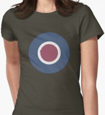 Vintage Look WW2 British Royal Air Force Roundel Women's Fitted T-Shirt