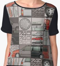 Volvo 740 745 Turbo Wagon Trio Women's Chiffon Top