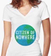 Citizen of Nowhere - v1 Women's Fitted V-Neck T-Shirt