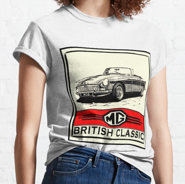 Multiple Colors and Sizes British Car MG MGB GT Coupe Long Sleeves T-Shirt