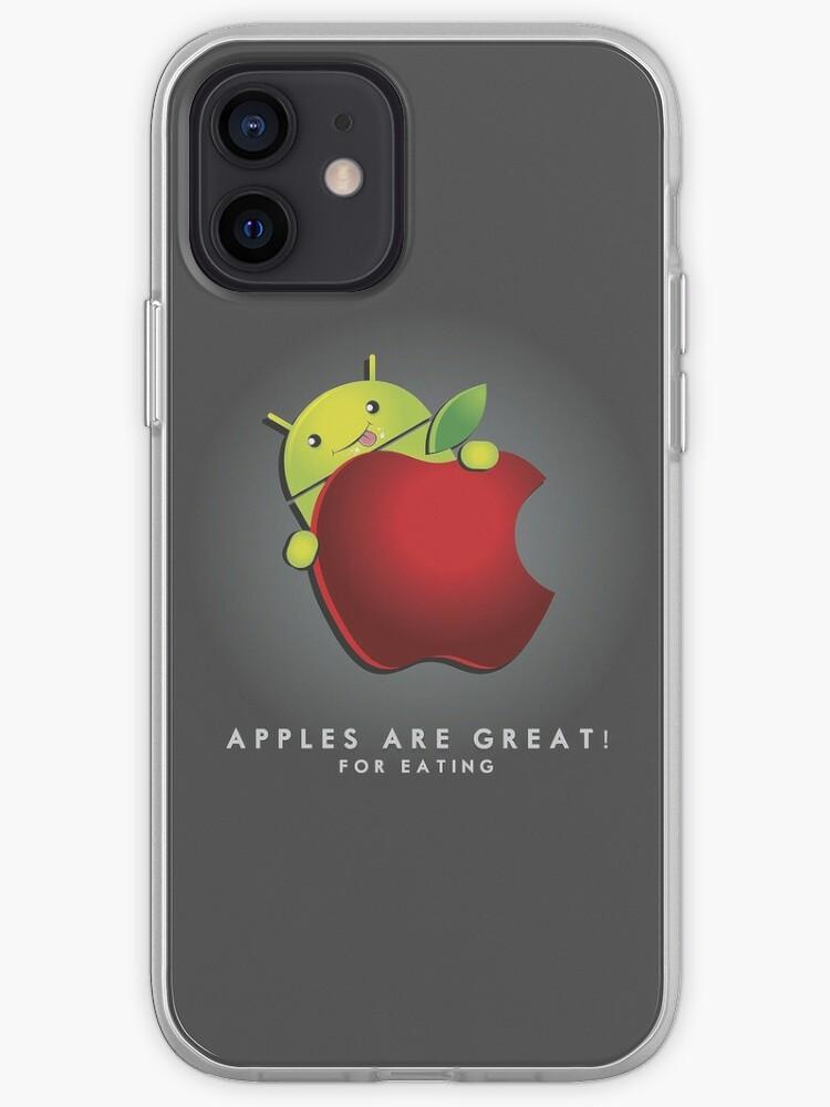 Les pommes sont super ... pour manger!   Coque iPhone