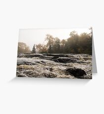 Whiskey River - Rough Rapids and Soft Fog Greeting Card