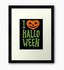 Love Halloween Framed Print