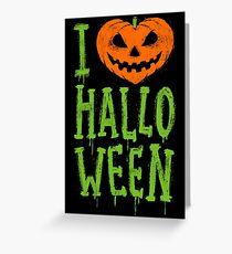 Love Halloween Greeting Card