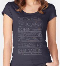 Camiseta entallada de cuello ancho El viaje