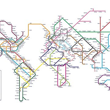 World Tube Metro Map by ArtPrints