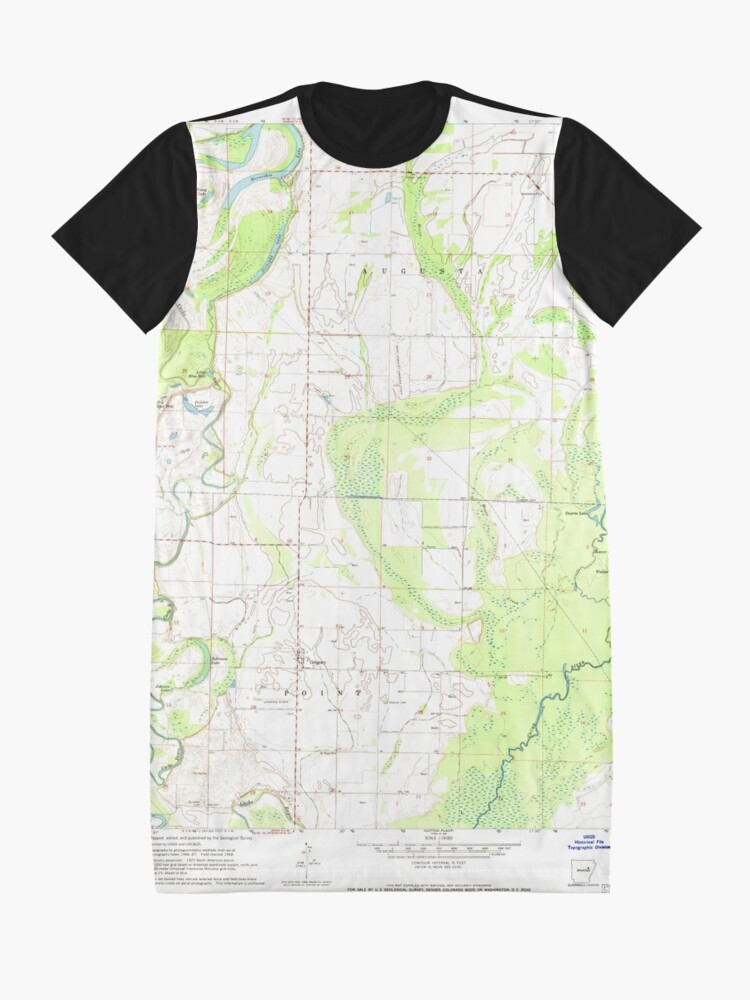 Alternative Ansicht von USGS TOPO Map Arkansas AR Gregory 258626 1968 24000 T-Shirt Kleid