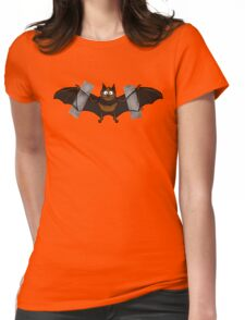 Do-It-Yourself Bat Logo Womens Fitted T-Shirt