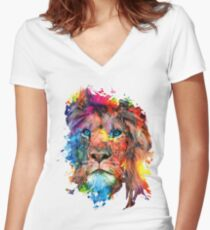 Lion Fitted V-Neck T-Shirt