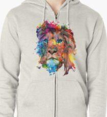 Lion Zipped Hoodie