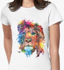 Löwe Tailliertes T-Shirt für Frauen