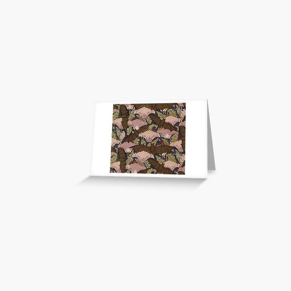 Vintage Art Deco Bat and Flowers  Greeting Card