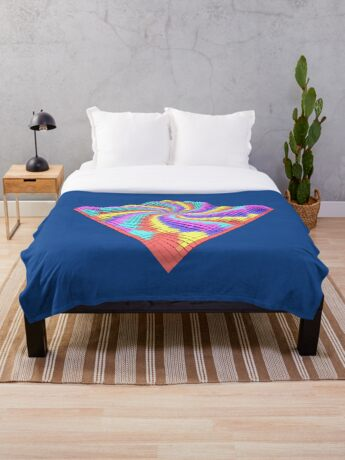 Cube Hero #Fractal Throw Blanket
