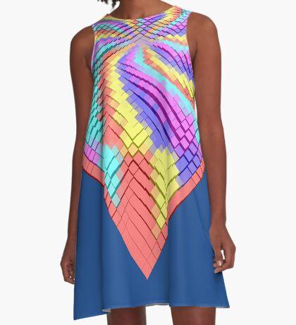 Cube Hero #Fractal A-Line Dress