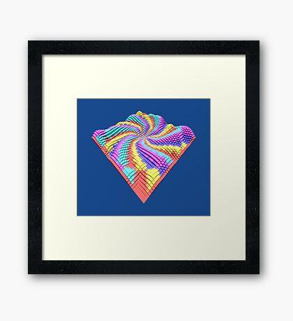 Cube Hero #Fractal Framed Print