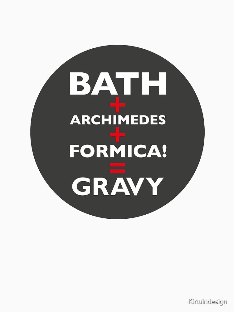 Red Dwarf Bath+Archimedes+formica=gravy by Kirwindesign