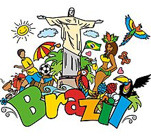 Quot Funny Cartoon Brazil Picture Quot Posters By Naum100 Redbubble