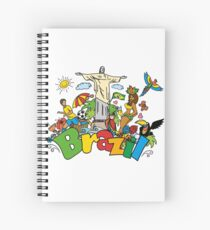 Funny cartoon brazil picture Spiral Notebook