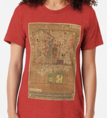 Vintage Map of Beijing China (1914) Tri-blend T-Shirt
