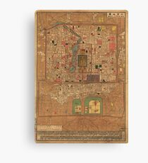 Vintage Map of Beijing China (1914) Canvas Print