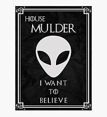 House Mulder Photographic Print